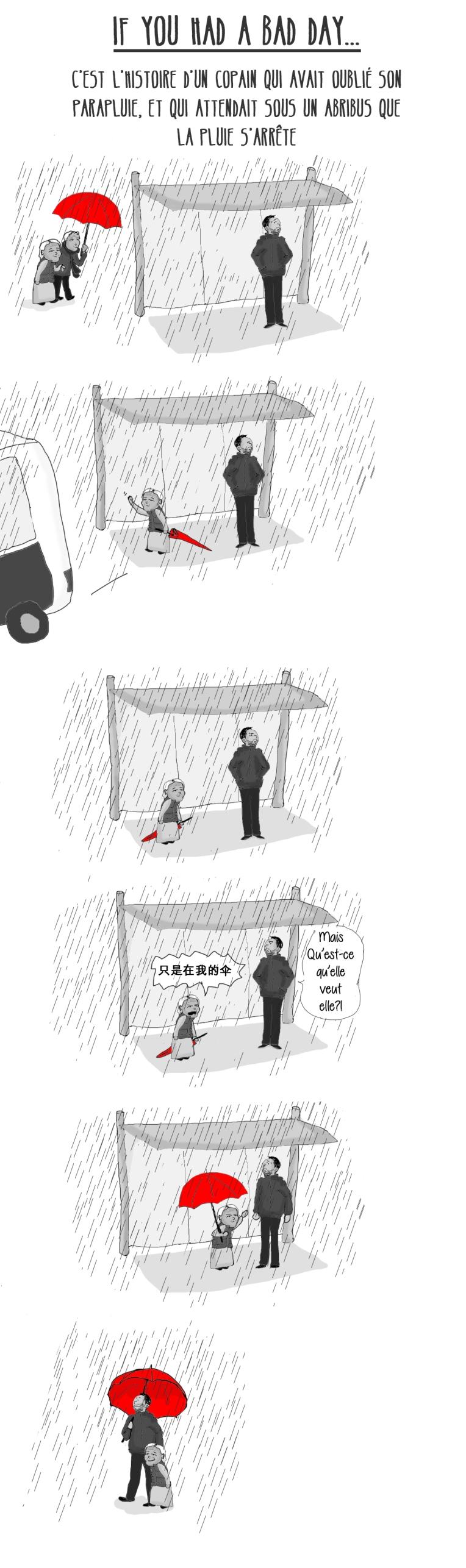 parapluie NB rouge VLarge